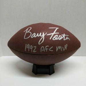 Barry Foster autographed football